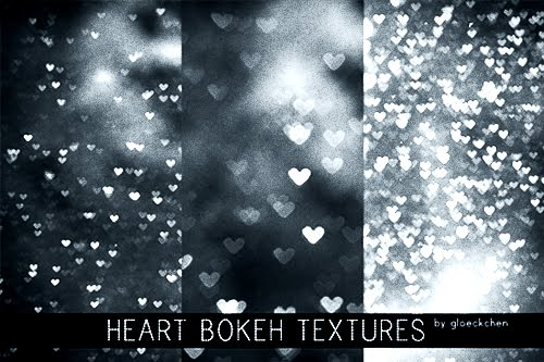 Heart Bokeh Texture backgrounds by ~Gloeckchen