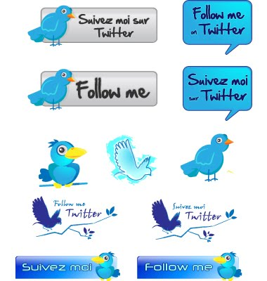vector twitter pack by C100D17 Fresh and Exceptional Twitter Bird Design Icons