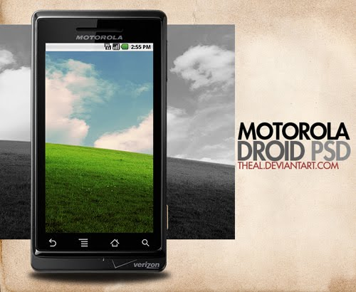 Motorola Droid PSD by TheAL Google Nexus One, Android GUI PSD Packs For Designers