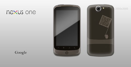 Google Nexus One Template by bharathp666 Google Nexus One, Android GUI PSD Packs For Designers