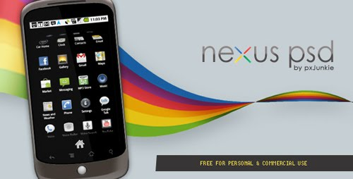 px+junkie+Freebie+Google+Nexus+PSD Google Nexus One, Android GUI PSD Packs For Designers