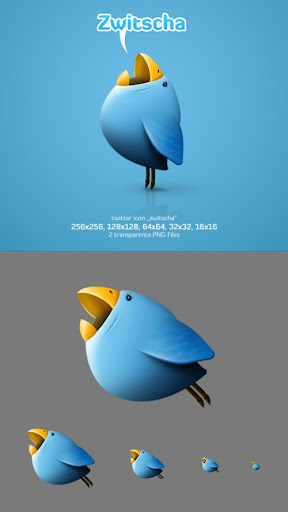 tw+bird Fresh and Exceptional Twitter Bird Design Icons