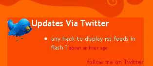 Customized twitter widget for blogger blogs
