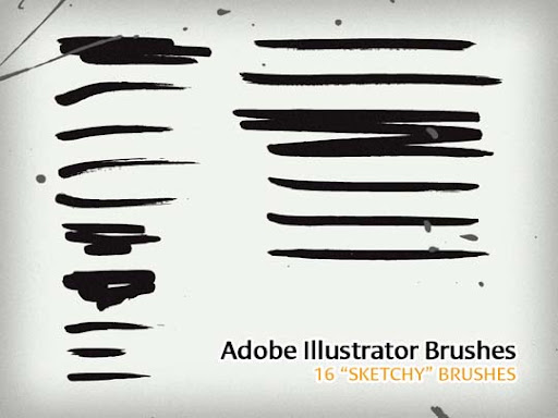 16+%E2%80%9CSketchy%E2%80%9D+Illustrator+Brushes A Huge Compilation of 1000+ High Quality Adobe Illustrator Brushes