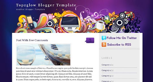 Topzglow Huge Compilation of Best Blogger Templates Released in 2010 | Blogspot Toolbox