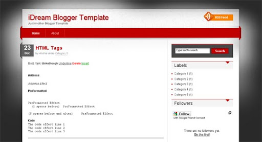 iDream Huge Compilation of Best Blogger Templates Released in 2010 | Blogspot Toolbox