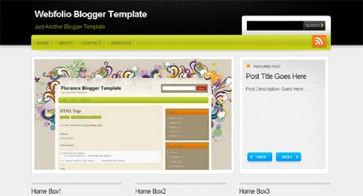Webfolio Huge Compilation of Best Blogger Templates Released in 2010 | Blogspot Toolbox