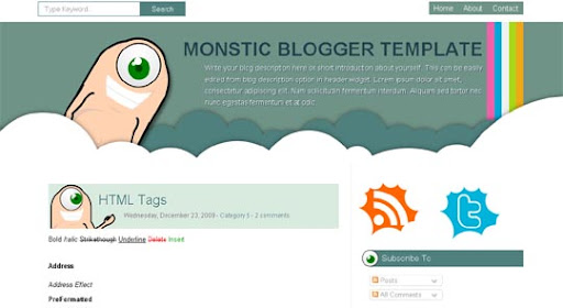Monstic Huge Compilation of Best Blogger Templates Released in 2010 | Blogspot Toolbox