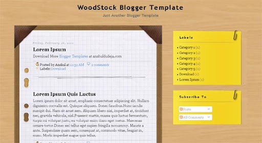 Woodstock Huge Compilation of Best Blogger Templates Released in 2010 | Blogspot Toolbox