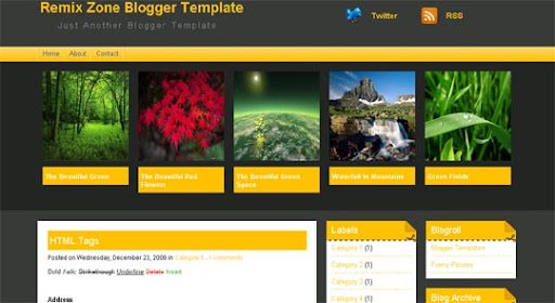 Remixzone Huge Compilation of Best Blogger Templates Released in 2010 | Blogspot Toolbox