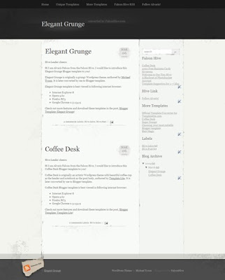 Elegant Grunge Blogger template