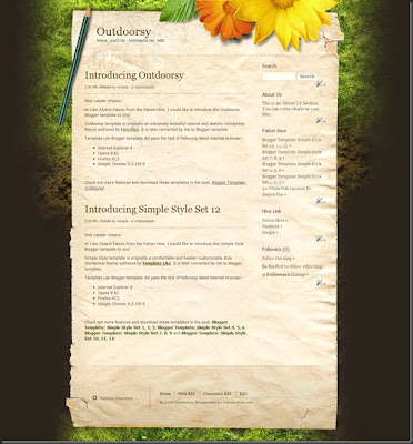 Outdoorsy Blogger template