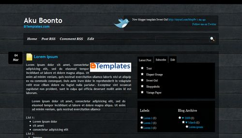 aku+boonto+blogger+template Roundup Of Best Blogger Templates