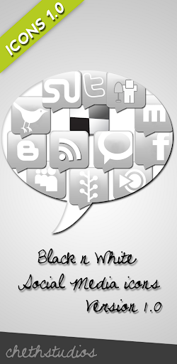 black+n+white+version+1 Social Network Icons Reloaded