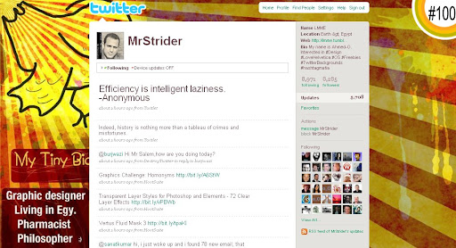 mrstrider 100+ Incredible Twitter Backgrounds