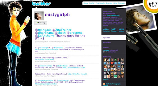 mistygirlph 100+ Incredible Twitter Backgrounds