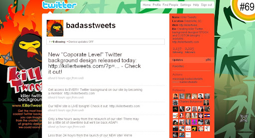 badasstweets 100+ Incredible Twitter Backgrounds
