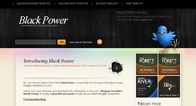 black+power Visually Impressive and Smashing Blogger Templates