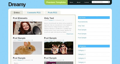 dreamy Visually Impressive and Smashing Blogger Templates