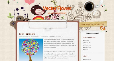 vectorflower Visually Impressive and Smashing Blogger Templates