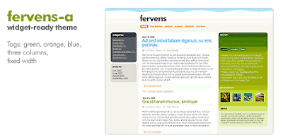 fervens a Quality Free Blogger Templates + PSD Source Files