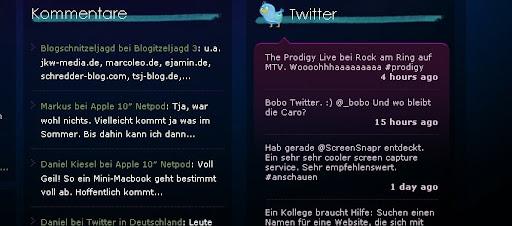 pixelpanzer.de Creative Twitter Status Designs