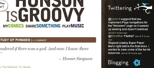 hunsonisgroovy Creative Twitter Status Designs