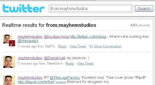 from+mayhemstudios Some Lesser known Twitter Search Tricks