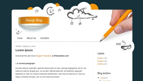 Design Blog2 40+ New and Fresh Blogger Templates