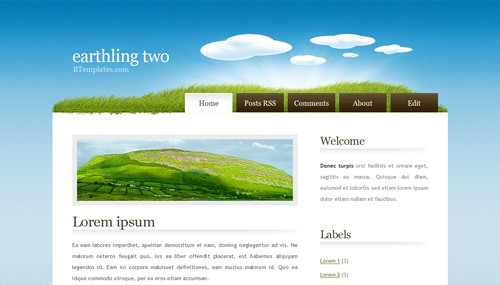 Earthling two 40+ New and Fresh Blogger Templates