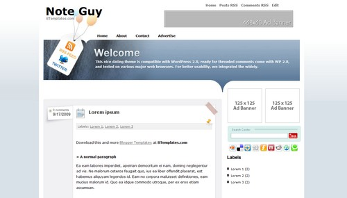 Note Guy 40+ New and Fresh Blogger Templates