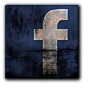 Facebook Metal Grunge Icon by ThrashATL Social Network Icons Reloaded