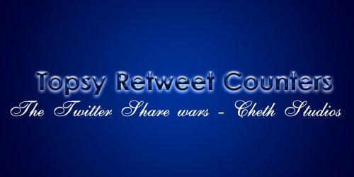 topsy+retweet+counter+blogger Twitter Share Wars : Topsy Retweet Counters