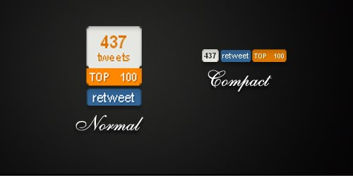topsy Twitter Share Wars : Topsy Retweet Counters