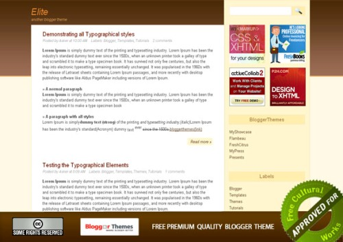 elite Mindblowing Premium Like Free Blogger Templates