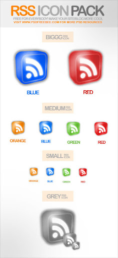grafon Fresh, Free and Gorgeous RSS/Feed Icons