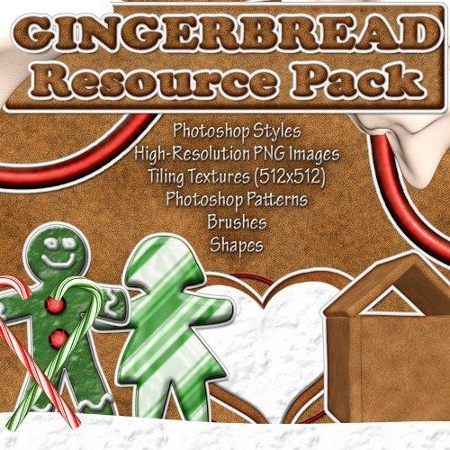 Gingerbread resource pack by suztv Design + Christmas = oh my! Inspirational Resources!