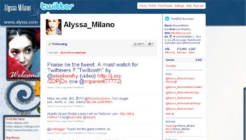 Alyssa Milano Inspiration Reloaded!   44 Best Twitter Background Themes