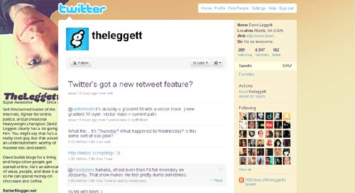 theleggett Inspiration Reloaded!   44 Best Twitter Background Themes