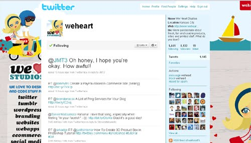 weheart Inspiration Reloaded!   44 Best Twitter Background Themes