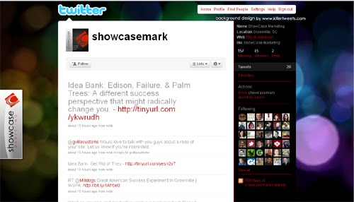 Showcasemark Inspiration Reloaded!   44 Best Twitter Background Themes