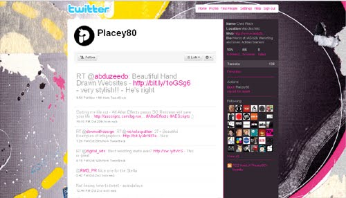 placey80 Inspiration Reloaded!   44 Best Twitter Background Themes