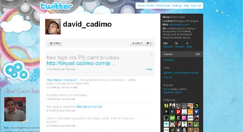 david cadimo Inspiration Reloaded!   44 Best Twitter Background Themes