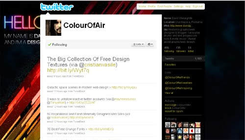 CoulourOfAir Inspiration Reloaded!   44 Best Twitter Background Themes