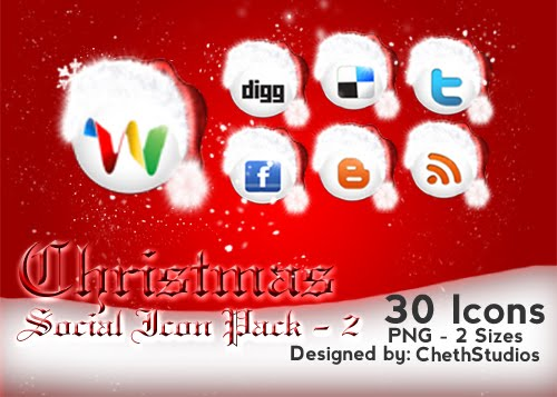 Christmas+Special+Social+Networking+Icons+ +2+ +chethstudios.net Design + Christmas = oh my! Inspirational Resources!