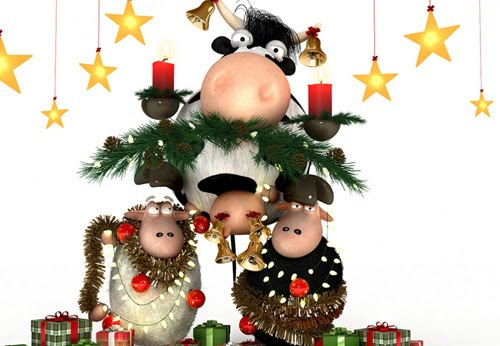sheeps xmas 40 Gorgeous High Quality Christmas Wallpapers