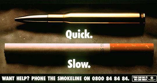 Smoke+Kills+Slowly 65 Creative Anti Smoking Ad Campaigns Dedicated to World No Tobacco Day
