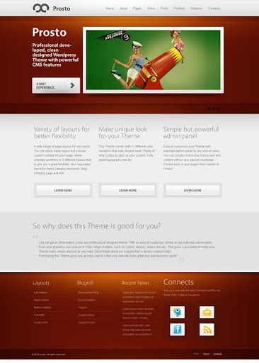 prosto Fresh Premium Wordpress Themes Designed in 2010