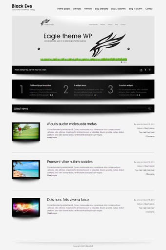 Black+Eve Fresh Premium Wordpress Themes Designed in 2010