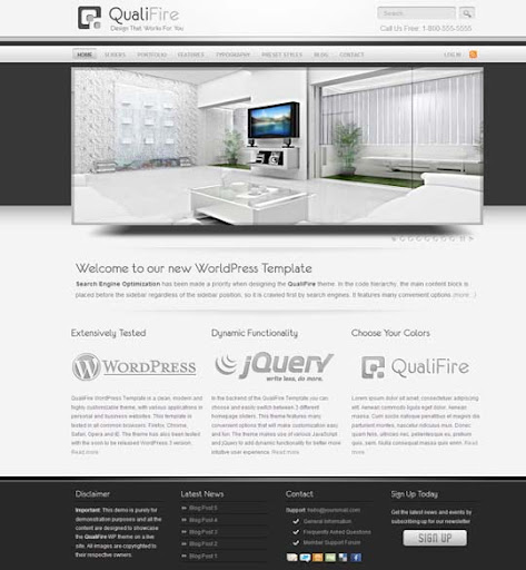 qualifire Fresh Premium Wordpress Themes Designed in 2010